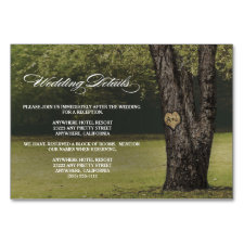 Carved Oak Tree Wedding Reception + Hotel Cards