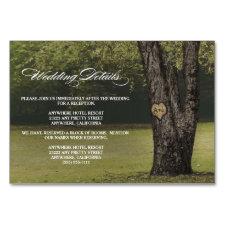 Carved Oak Tree Wedding Reception + Hotel Cards