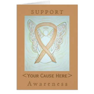 Gold Awareness Ribbon Angel Customized Card