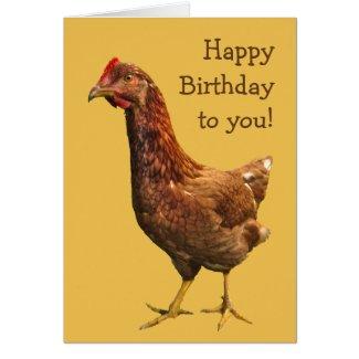 Rhode Island Red Hen Chicken Birthday Card