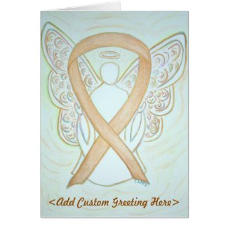 Gold Awareness Ribbon Angel Greeting Card