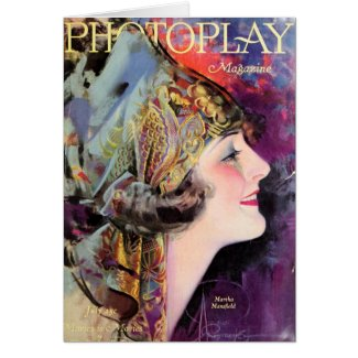 First Night Design | Martha Mansfield, Photoplay July 1920 #Vintage Magazine Cover