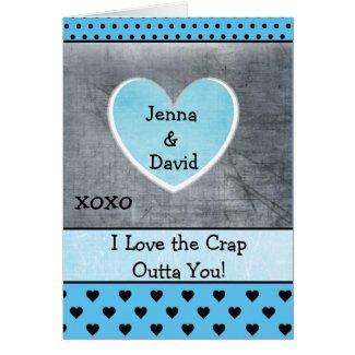 Couple's Card, Grayish Bluish xoxo Card