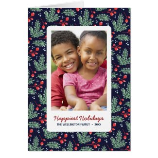 Botanical Christmas | Folded Holiday Photo Card
