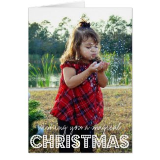 Magical Christmas Photo Holiday Card