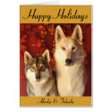 Holiday Wolves Greeting Card