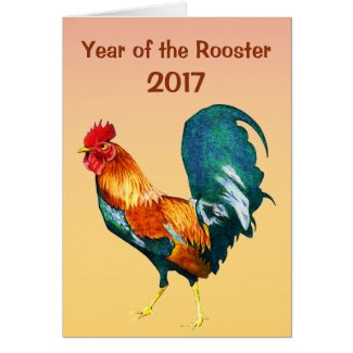 Year of the Rooster 2017 Chinese New Year Card