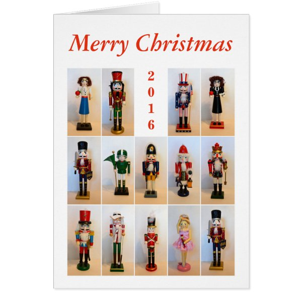 Nutcrackers Collage With Year Card