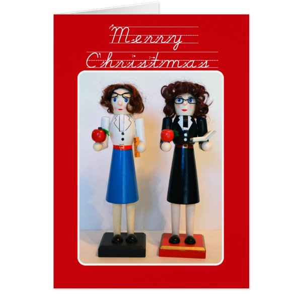 Teacher Nutcracker Christmas Card
