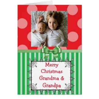 Personalize this Merry Christmas Grandma Card