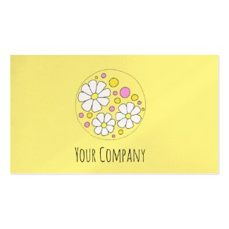 Modern Daisy Flower Floral Small Business Business Card