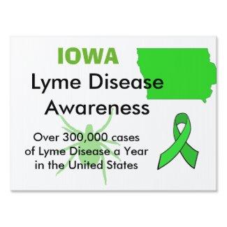 Iowa Lyme Disease Awareness Yard Sign