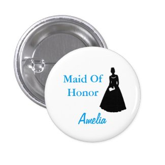 Maid of Honor or Bridesmaid Flair Button
