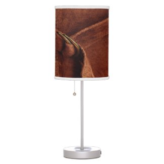 Brown Suede With Strap And Buckle Table Lamp