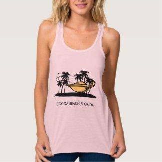 Cocoa Beach Florida Flowy Racerback Tank Top
