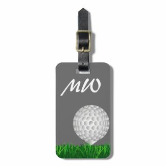 Golf ball personalized golfer tag for luggage