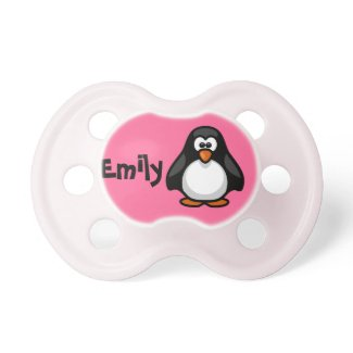 Cute Personalized Penguin Pacifier