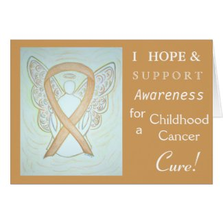 Childhood Cancer Awareness Ribbon Greeting Card