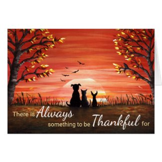 Autumn Sunset Always Thankful Card