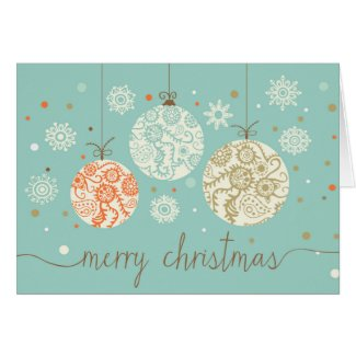 Vintage Christmas Ornaments Greeting Card