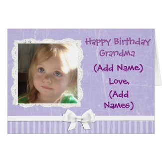Add your Graadma's Name Purple Birthday Card