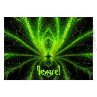 Halloween Radioactive Spider Card