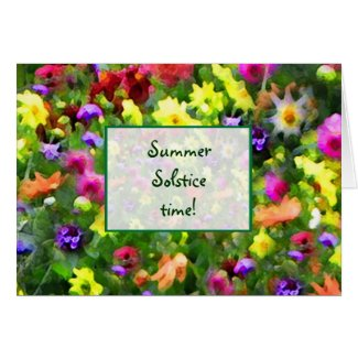 Floral Impressions Summer Solstice Card