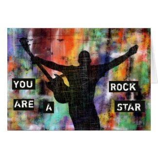 You Are A Rock Star Thank You Card