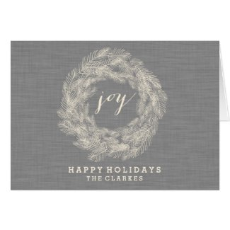 WINTER LINEN | JOY | STYLISH HOLIDAY CARD