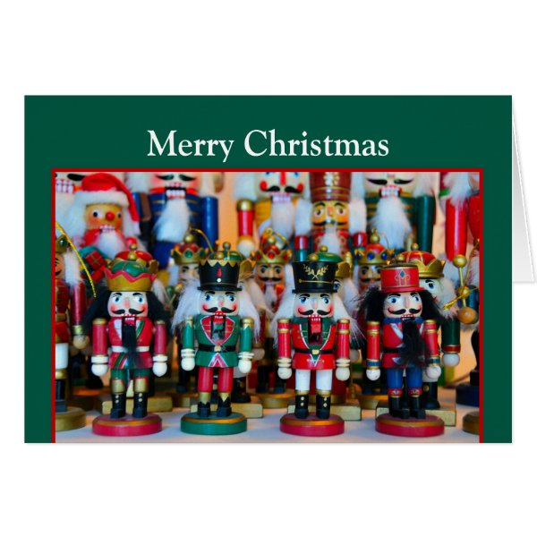 Nutcrackers Merry Christmas Card