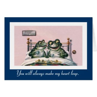 Funny Animals - Cute Vintage Frogs Anniversary Card