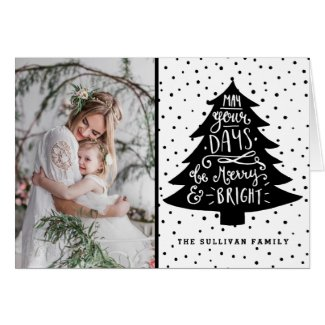 Merry & Bright Christmas Tree | Holiday Photo Card