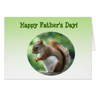 Red Squirrel Fathers Day Card
