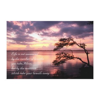 Life Is Not Measured Personalized Quote Sunset Canvas Print