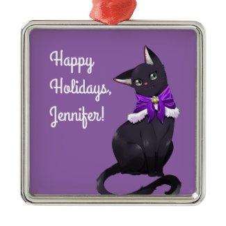 Custom Black Cat Ornaments
