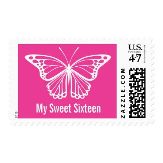 My Sweet 16 Butterfly Postage Stamps