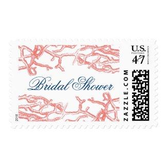 Coral Reef Bridal Shower Wedding Postage Stamps