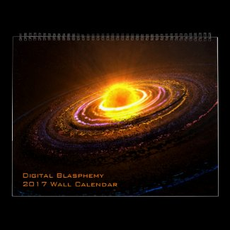 Digital Blasphemy 2017 Wall Calendar