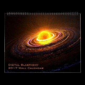 Digital Blasphemy 2017 Wall Calendar