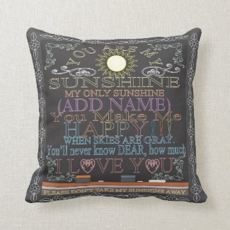 Add a Name Sunshine Vintage Chalkboard Pillow