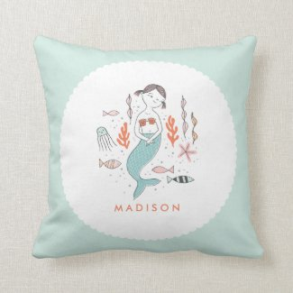 Under the Sea Little Mermaid Personalized Pillow
