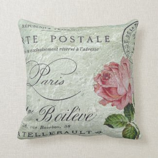 Petit Rose Confection Throw Pillow