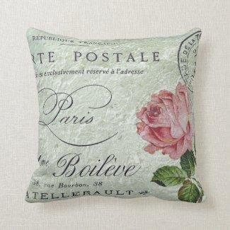 Petit Rose Confection Throw Pillow