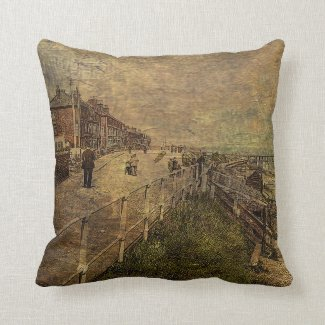 A Stroll Along the Seafront Throw Pillow