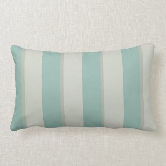 Georgian Stripe Duck Egg Pillow