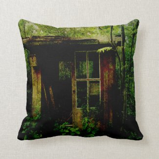 Abandoned Hideaway Throw Pillow