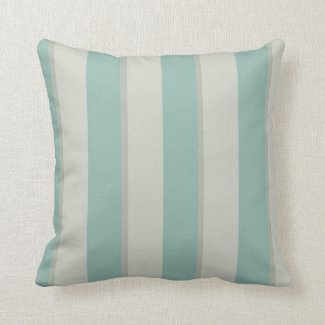 Georgian Stripe Duck Egg Throw Pillow