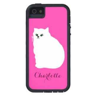 Fluffy White Persian Cat Case For iPhone SE/5/5s