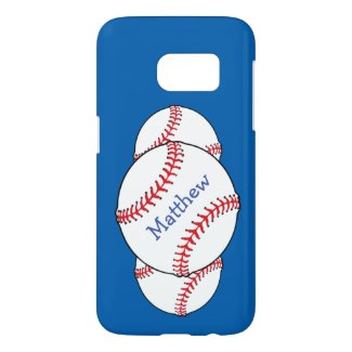 Red White Blue Baseball Samsung Galaxy S7 Case