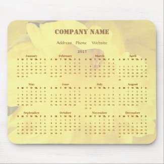 Yellow Business Company Promotional 2017 Calendar Mouse Pad